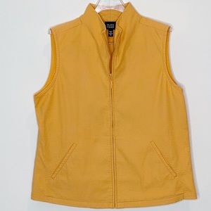 Eileen Fisher Cantaloupe Zip Up Vest Medium